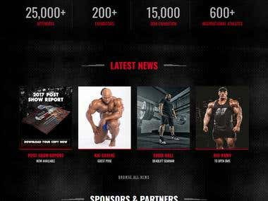Dubai Muscle Show Website