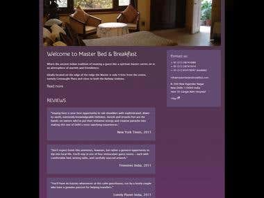 Master Guest House Website