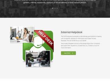 Website for GDPR Advisory Consulting Company