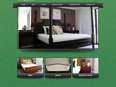 Website Mockup for a furniture website