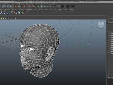 human head(basic mesh)