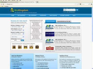 Bizkingdom - Business Buy Sell, Vendors, Brokers website