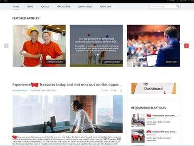 news hub site based on SharePoint
