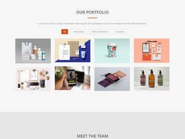Responsive Bootstrap Based WebSite