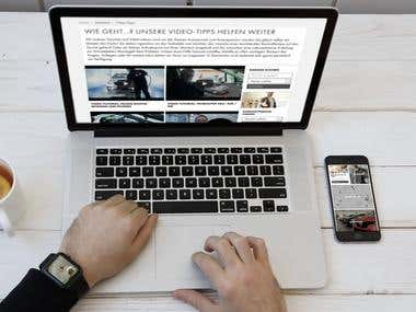 Responsive Website Presentation - Watch - Laptop - Mobile
