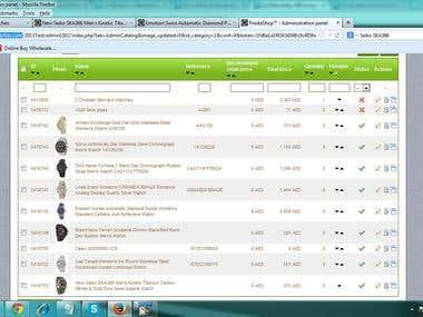 Prestashop Data entry - http://www.kanaryluxurywatches.com