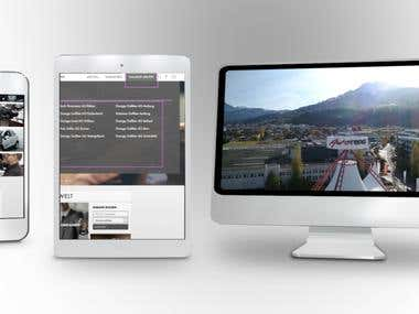 Responsive Website Presentation - Mobile - Tablet - Mac