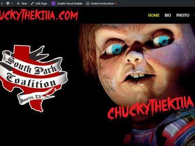 Wordpress Website chuckythekilla.com/