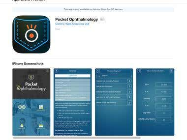 Pocket Ophthalmology (Cross Platform Ionic Hybrid App)