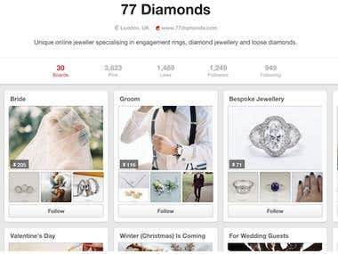 Pinterest marketing & managment