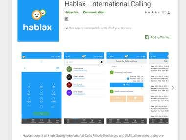 Hablax - International Calling Service (Hybrid Mobile App)