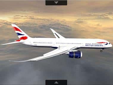 Plane Web3D, WebGL