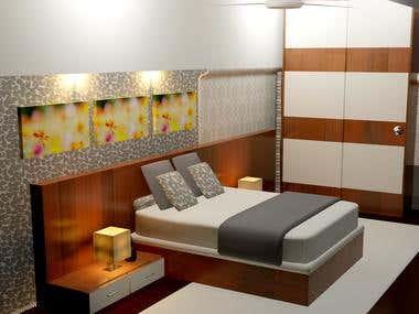 3d room interior.