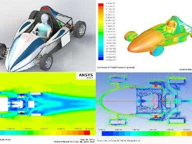 3d Design and Aerodynamic analysis of F4 student Race car