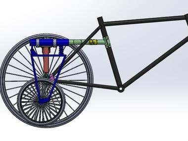 Customized Bicycle for disabled persons