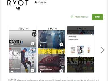 RYOT-AR ios & android mobile app
