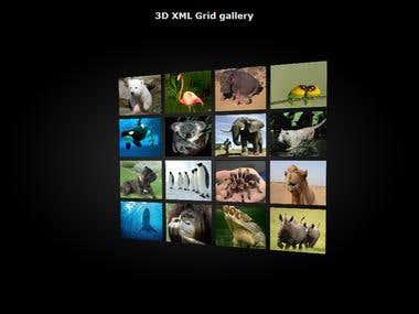 3D XML gallery