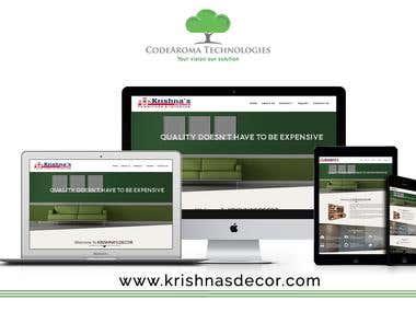 Krishnas Decor Furniture & Interior - Website Development