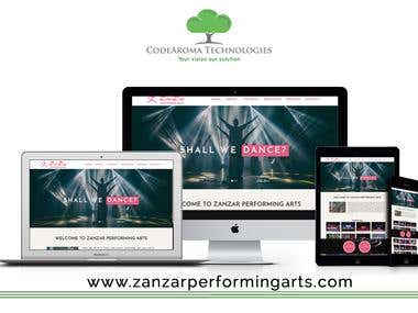 ZanZar Performing Arts - Website Development