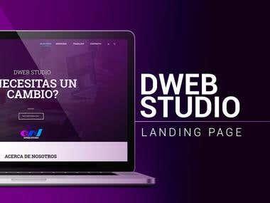 Landing Page: Dweb Studio