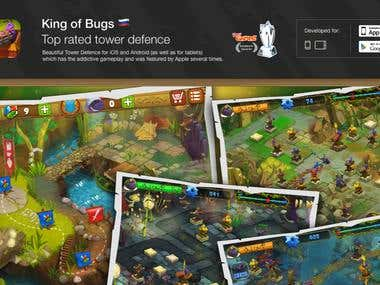 King of Bugs mobile game