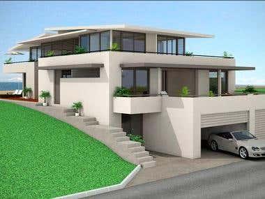 3d building architecture modeling