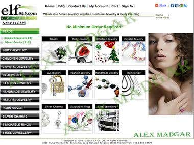 Jewellery store - shopping web