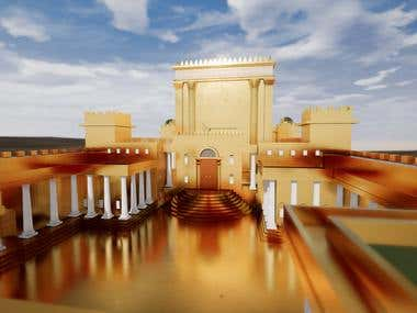 Second Temple of Jerusalem made of gold