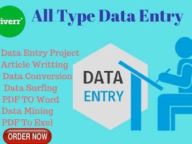 Statistics and Data Entry Analysis for you