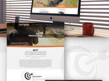 Perigeo NGO Web Design