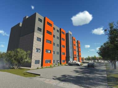 apartment building rendering
