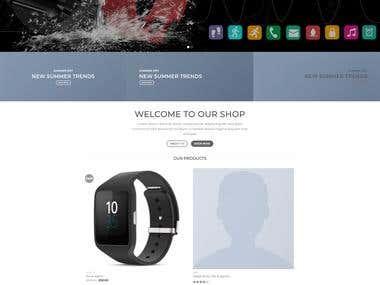 Smart watch Woocommerce website