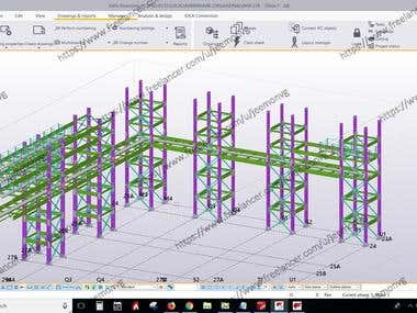 TEKLA STRUCTURES MODELING AND DETAILING OF INDUSTRIAL