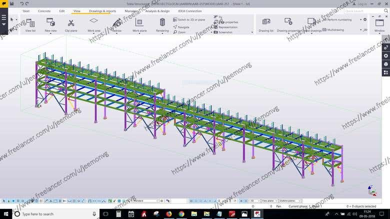 TEKLA STRUCTURES MODELING AND DETAILING OF INDUSTRIAL | Freelancer