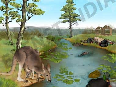 ILLUSTRATIONS - NATURE SCENE