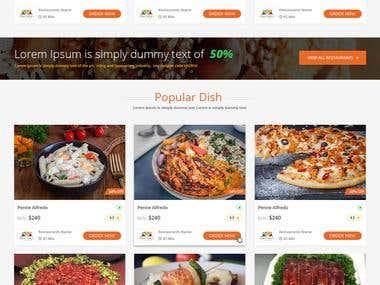 Food Delivery Website (Oder or Take Away)