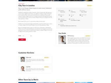Tour web app, Ember.js
