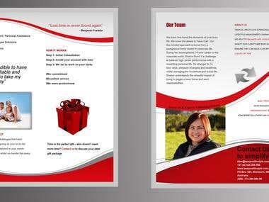 Tri-Fold Brochure Front & Back
