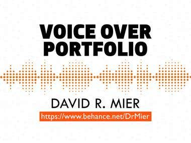 Voice Over Projects. Audio Portfolio