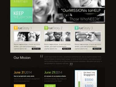 .psd to HTML mock up web design