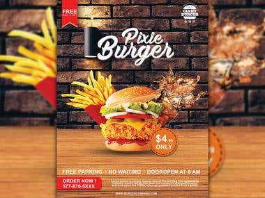 Burger Restaurant Flyer
