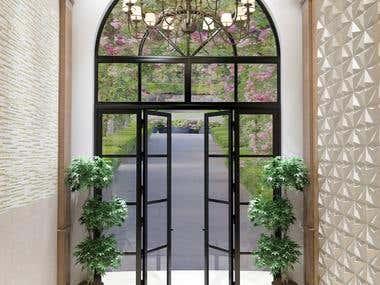 RENDERING FOR BIM OF WINDOWS AND DOOR