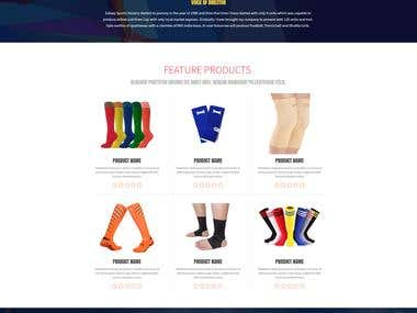 Galaxy Sports Landing Page Design