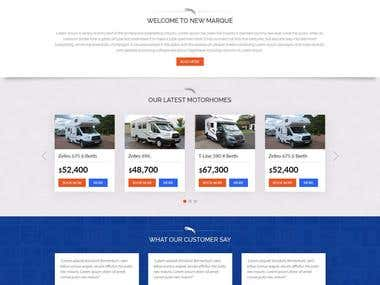 Motorhome Contest Landing Page Design