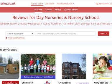 Day Nurseries Website