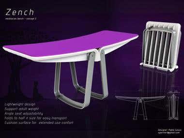 Industrial design Zench meditation bench