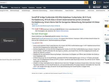 Amazon Product Descriptions. Translation En - Ger