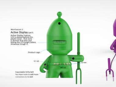 Garden Bot Industrial design concept