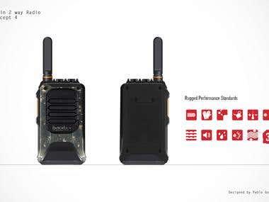 Industrial design 2 way radio system