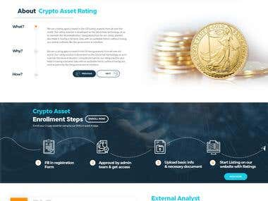Redesign of cryptoassetrating.com